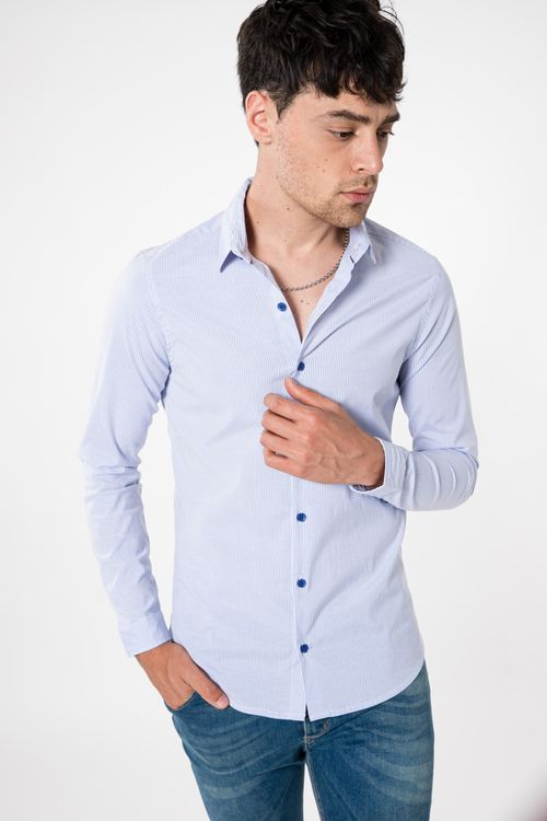 Camisa Ml Adding Celeste