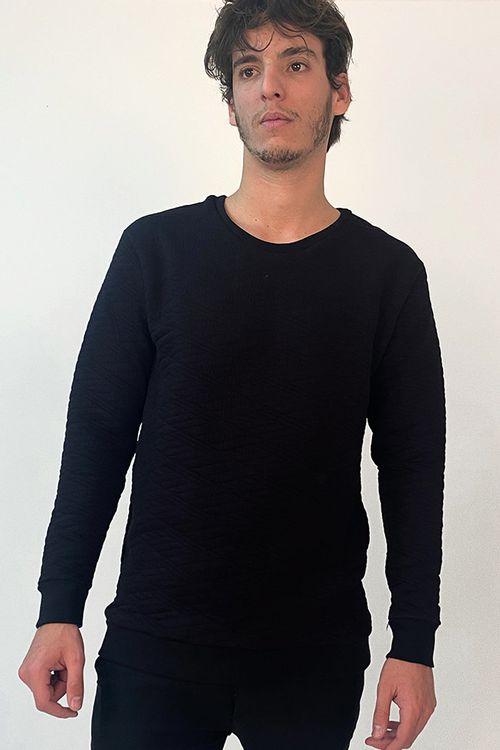 Buzo Carmin Negro