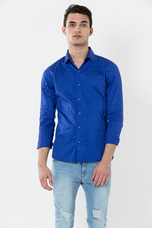 Camisa Ml Agu Azul