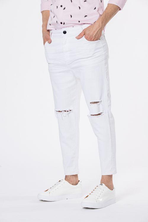 Jean Loose Cropped Ticone Blanco
